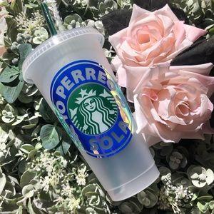Custom bad bunny Starbucks reusable cold cup